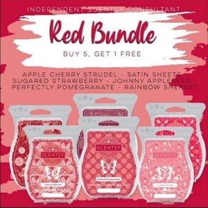 Scentsy red bundle 6pk $38 all scents included